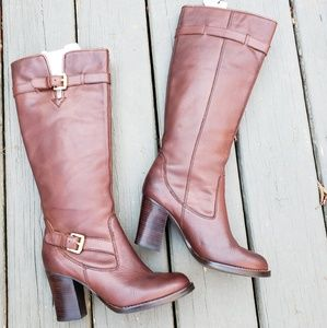 7.5 leather Michael Kors knee high boots